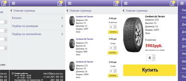 Разработка мобильной версии интернет-магазина pro100kolesa.ru